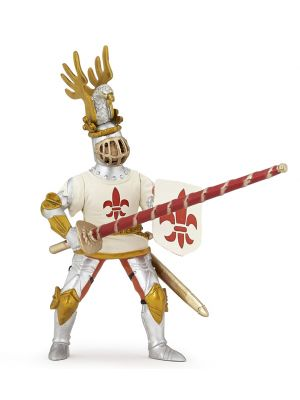 Papo History Witte Ridder Fleur De Lys 39790