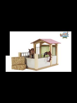 Kids Globe paardenbox roze (excl. accessoires) 610206