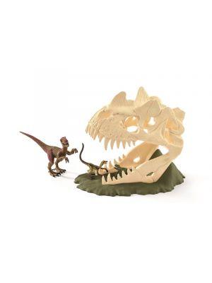 Schleich 42348 Dinosaurus Grote schedelvalstrik met Velociraptor