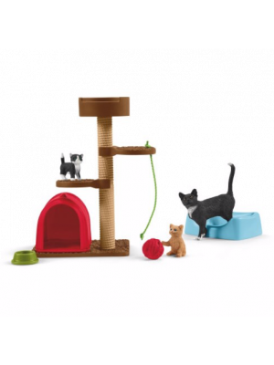 Schleich Farm World Speelplek voor schattige Katten 42501