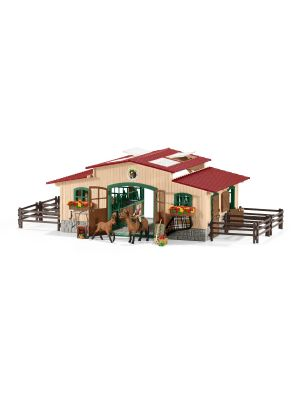 Schleich Farm World Paardenstal Met Paarden en Toebehoren 42195