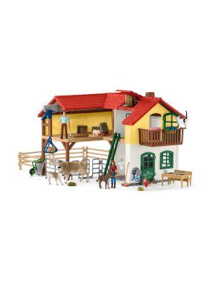 Schleich Farm World Farm World Boerenhuis met Stal en Dieren 42407