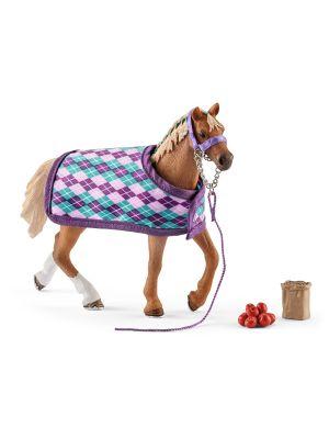 Schleich Horse Club Paard Engelse Volbloed met Deken 42360