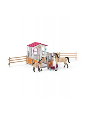 Schleich Horse Club Paardenbox met Arabier Paarden en Verzorgster 42369