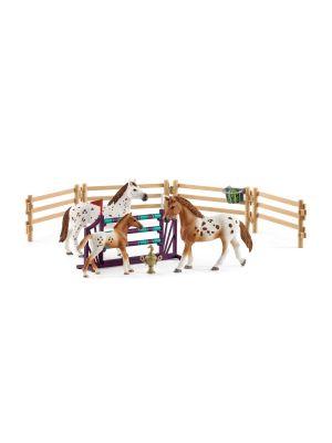 Schleich Horse Club Toernooi Training Set & Appaloosa Paard 42433