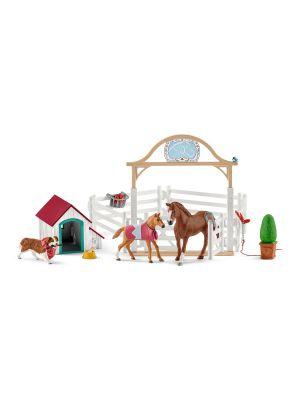 Schleich Horse Club Hannahs Gast Paarden met Hond Ruby 42458