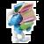 Plastoy Smurf met stapel boeken 13 cm