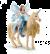 Schleich Bayala 42508 eyelas reed op gouden eenhoorn
