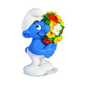 Schleich 20469 Smurf met bloementuil