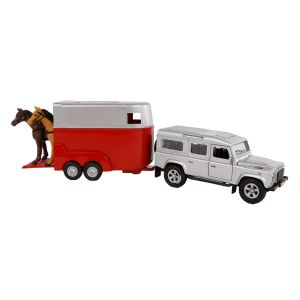 Kids Globe Land Rover met paardentrailer die cast 27cm 521712