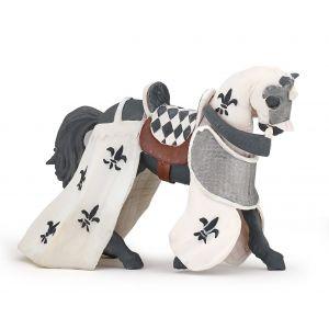 Papo History Wit Gedrapeerd Paard 39786
