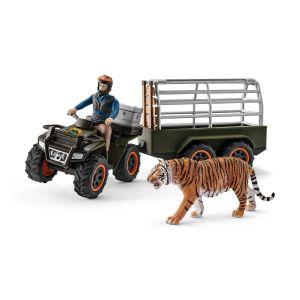 Schleich Wild Life Quad met Aanhangwagen 42351