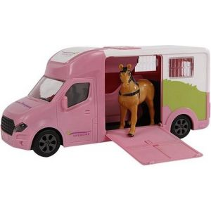 Kids Globe Anemone paardentruck die cast licht geluid roze 20cm 510212