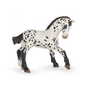Papo 51540 Paard Zwarte Appeloosa Veulen