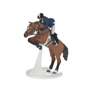 Papo 51562 Paard Springpaard Met Zijn Ruiter