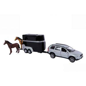 Kids Globe Volvo XC90 met paardentrailer die cast 27cm 521631