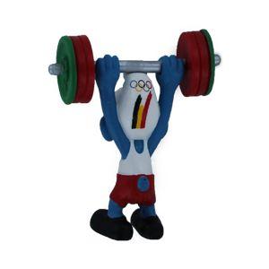 Schleich 40267 Belgische Olympische team Gewichtheffer smurf limited edition