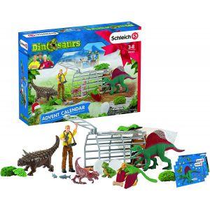 Schleich 98064 Adventskalender Dinosaurus 2020 met 24 Vensters