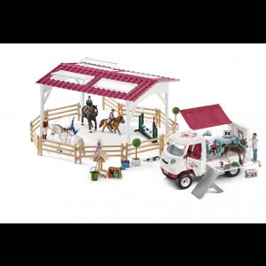Schleich Horse Club 72121 Mobiele Dierenarts op de manege