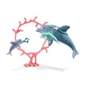 Schleich 41463 Bayala Dolfijnen Moeder met Baby's