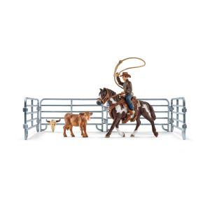 Schleich Farm World Lassovangst met Cowboy 41418
