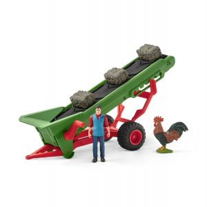 Schleich Farm World Transportband Hooi met Boer 42377