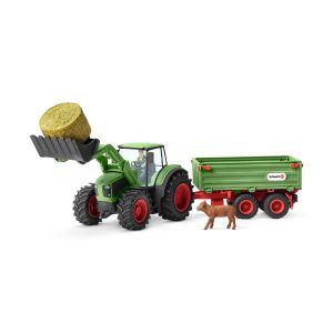 Schleich Farm World Boerenleven Tractor met Aanhangwagen 42379