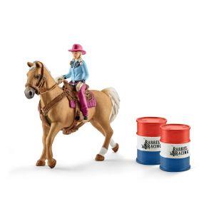 Schleich Farm World Barrel Racing met Cowgirl 41417