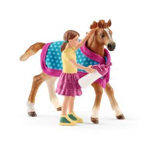 Schleich Horse Club Paard Veulen met Deken 42361