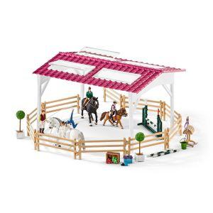 Schleich Horse Club Ruiterschool met Ruiters en Paarden 42389