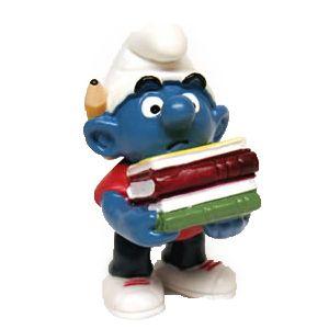 Schleich 20464 Smurf met boeken